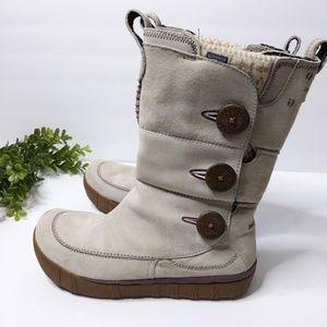 Merrell Snow Boots 8.5 Suede Nubuck Button Tempest